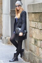 Zara bag - biker boots strategia boots - tezenis dress - Zara coat