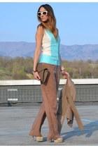 tan Stefanel bodysuit - light blue Stefanel bodysuit - ivory Stefanel bodysuit