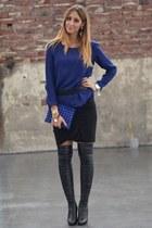 Zara blouse - Stella McCartney boots - diy Wendy in Wonderland bag