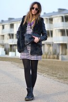 black Dr Martens shoes - black H&M dress - black AX Paris bag