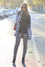 Sheinside-coat-black-united-colors-of-benetton-sweater