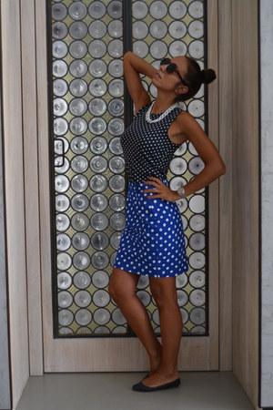 vintage skirt - Tara flats - vintage top