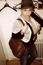 granddads hat - egypt scarf - H&M purse - Zara vest