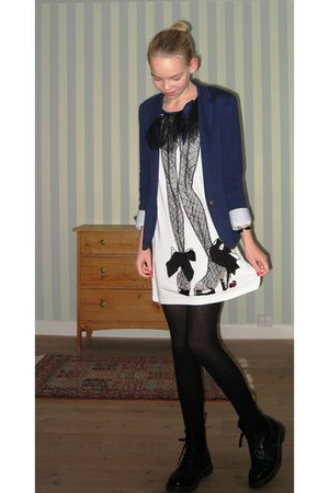 Zara blazer - Lanvin for H&M dress - Dr Martens shoes