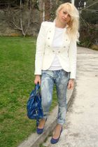 Marc by Marc Jacobs purse - Diesel jeans - gianna meliani shoes - Zara jacket -