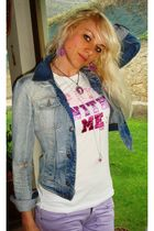Dolce&Gabbana jacket - Victorias Secret t-shirt - Cheap Monday jeans - Tarina Ta