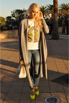 hollister jeans - Louis Vuitton bag - Kandee heels - happiness is a 10 tees t-sh