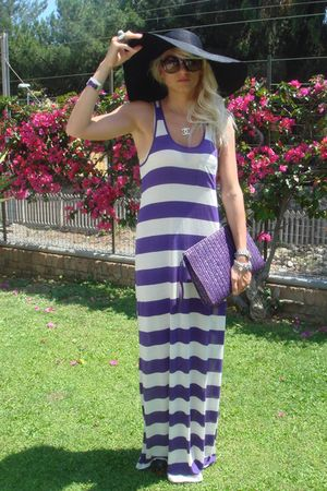 H&M dress - christian dior sunglasses - vintage purse