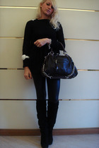Marc Jacobs purse - Zara dress - Zara leggings - Over the knee boots