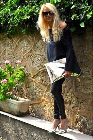 H&M Fashion against Aids bag - RODOLPHE MENUDIER Paris heels - D&G t-shirt