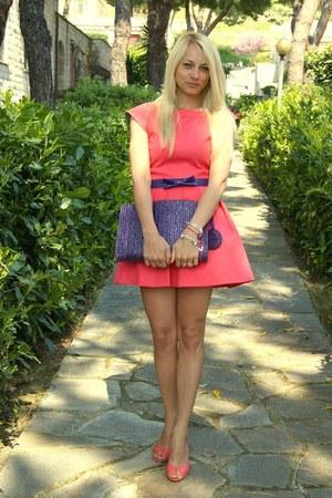 Zara dress - vintage bag - Manas Lea Foscati heels