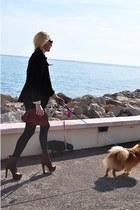 Miu Miu boots - Zara blazer - vintage bag bag