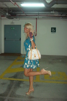 green Juicy Couture dress - gianmarco lorenzi shoes - Louis Vuitton purse