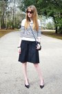 Black-worn-as-a-skirt-ann-taylor-dress-blue-cotton-striped-old-navy-sweater