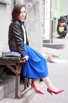 blue Zara skirt - red REPLAY heels