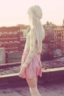 Light-pink-american-apparel-skirt