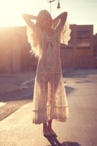 lace maxi vintage dress
