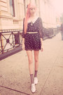 Black-miss-patina-dress-silver-sparkly-urban-outfitters-socks