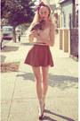 Crimson-hair-bow-accessories-tawny-corduroy-circle-american-apparel-skirt