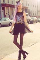 black chiffon sequin iwearsin dress