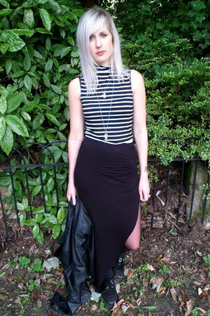 white new look top - black Missguided skirt