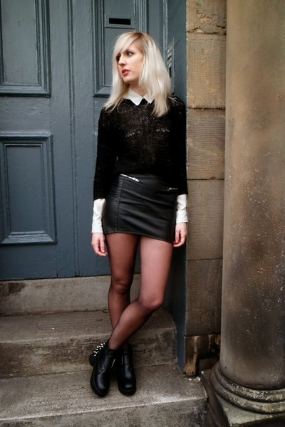 Black H&M Leather Skirt - How to Wear and Where to Buy | Chictopia