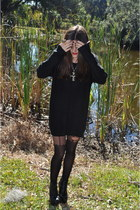 Forever21 tights - Jeffrey Campbell shoes - H&M dress
