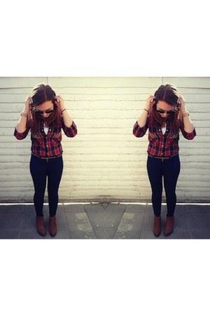 Zara shirt - Topshop boots