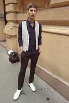maison martin margiela pants - H&M pants - Adidas shoes - H&M vest