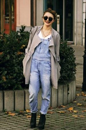 Jeffrey Campbell shoes - SAXONY coat - Karen Walker sunglasses - Zara top