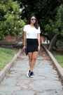 White-zara-shirt-black-pull-bear-bag-black-aliexpress-skirt