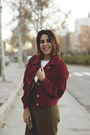 Brick-red-color-twinkledeals-jacket-white-stradivarius-top