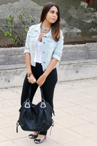 light blue Shana jacket - black Mulaya bag - black Shana pants
