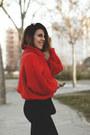 Red-h-m-sweater-black-vipshop-pants