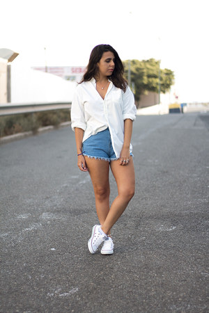 white el corte ingles shirt - sky blue sammydress shorts