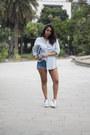 Light-blue-zara-shirt-silver-primark-bag-sky-blue-sammydress-shorts