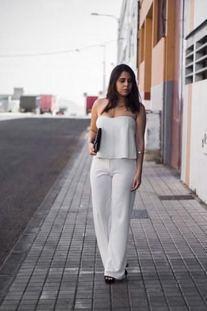 black suiteblanco bag - white sammydress pants - white sammydress top