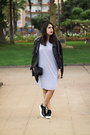 Silver-rosegal-dress-black-pimkie-jacket-black-parfois-bag
