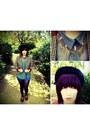 Black-bowler-cotton-face-vintage-hat-bronze-houndstooth-h-m-blazer