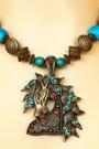 Turquoise-blue-vintage-horse-pendant-necklace