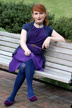 navy We Love Colors tights - deep purple Annie boots