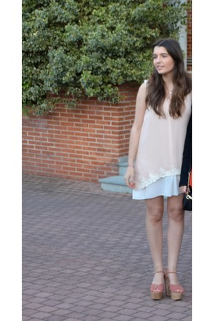 sam edelman shoes - peach Lluvia de Abril dress - Cartier watch