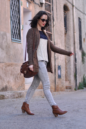 bullboxer boots - Zara jeans - david jones bag - Mango similar jumper