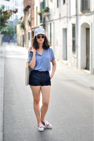 bubble gum flatform Sixtyseven sneakers - violet Goorin hat