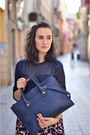 Dark-brown-suede-audley-shoes-navy-personaling-bag-navy-see-through-zara-top