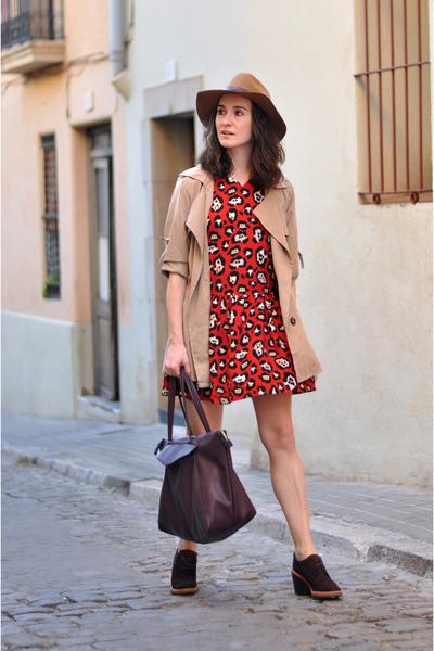 camel trench coat sammydress jacket - red Compania Fantastica dress