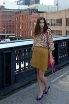 blue Esori flats - light brown leopard print Chaus shirt - hot pink Gap bag