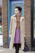 amethyst Target skirt - beige Burberry coat