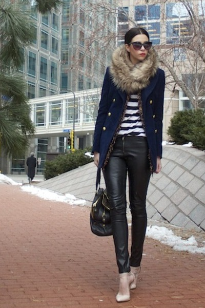 navy Forever 21 jacket - beige Target scarf - black JCrew bag