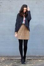 American Eagle shirt - hinge cardigan - Target heels